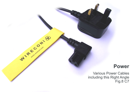 Wireconi Right Angle C7 Figure 8 Power Cable